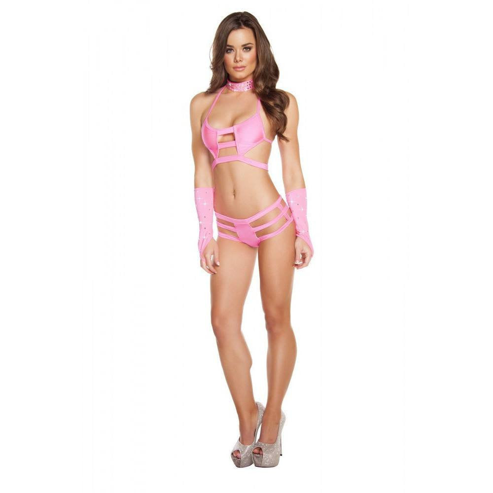 Hot Pink Triple Strapped Bottoms - Rave Rebel