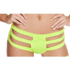 Yellow Triple Strapped Bottoms - Rave Rebel