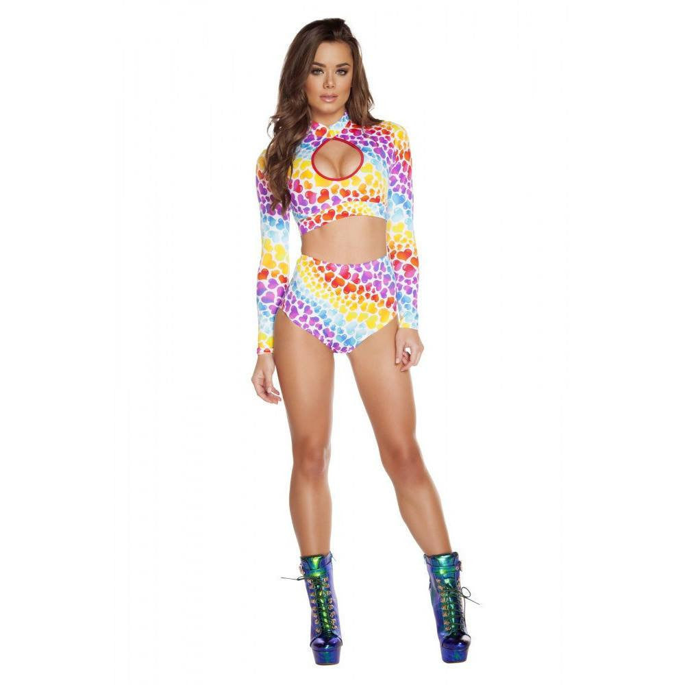 Hearts High Waisted Shorts - Rave Rebel