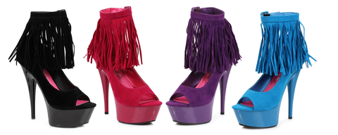 "6"" Platform With  Fringe - Rave Rebel"