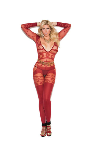 SHEER AND OPAQUE BODYSTOCKING