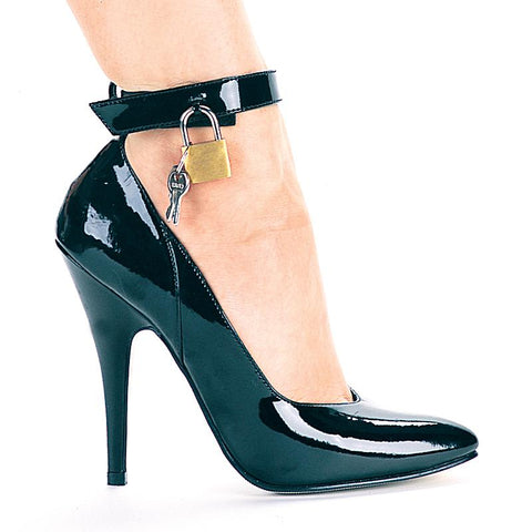 "5"" Heel Pump With Lock And Key - Rave Rebel"