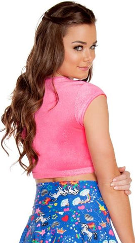 Velvet Sparkle Crop Top - Rave Rebel