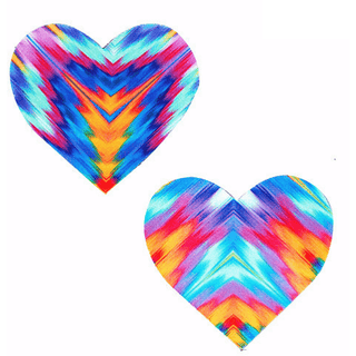 Aztec Rave Heart Pasties - Rave Rebel