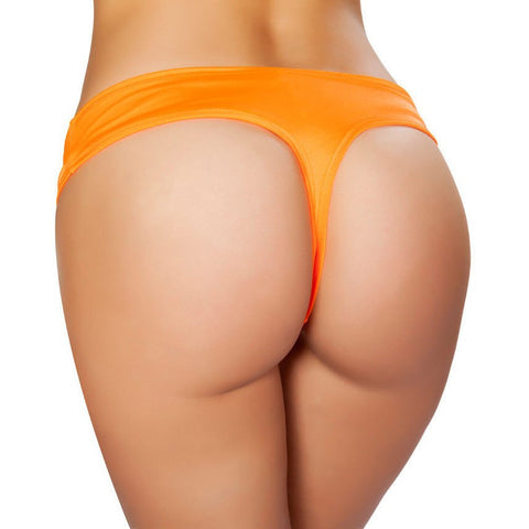 Orange Low Cut Booty Shorts
