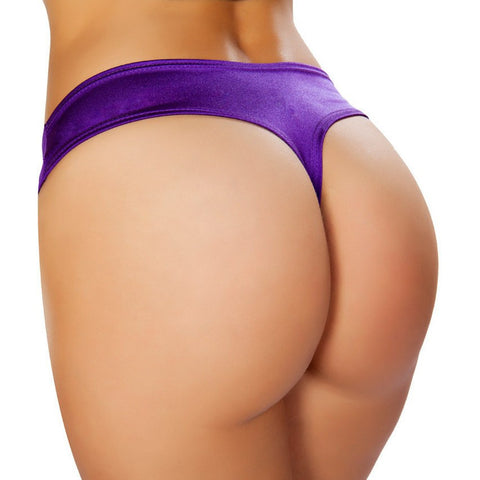 Purple Low Cut Booty Shorts