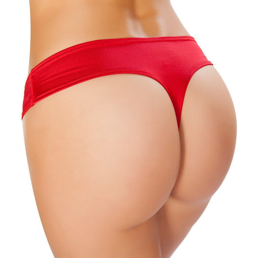Red Low Cut Booty Shorts - Rave Rebel