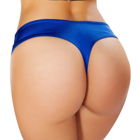 Royal Blue Low Cut Booty Shorts