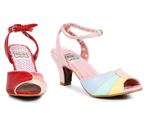 "25 "" Tri Color Peep Toe Sandal - Rave Rebel"