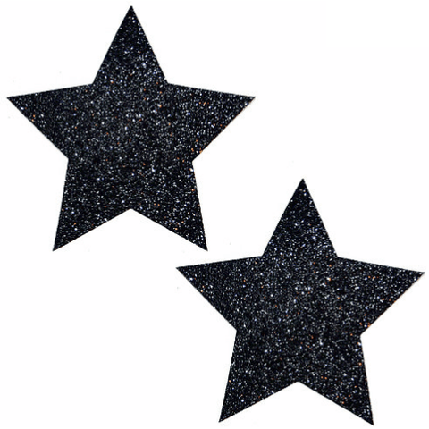 Black Malice Glitter Star Pasties - Rave Rebel