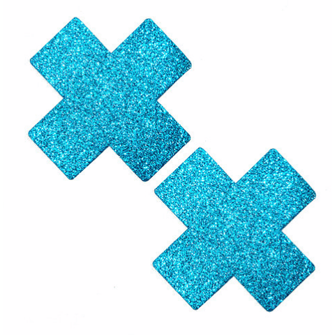 Bowie Blue Glitter X Pasties - Rave Rebel
