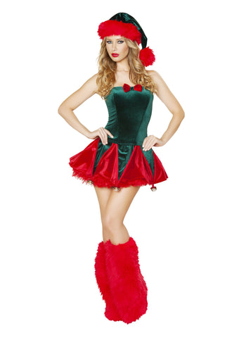 2pc Naughty Elf Costume - Rave Rebel