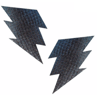Carbon Fiber Silver Bolt Pasties - Rave Rebel