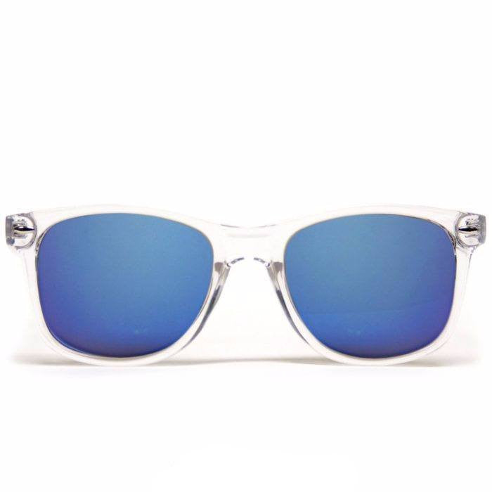 GloFX Diffraction Glasses – Clear – Blue Mirror - Rave Rebel
