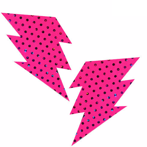 Cosmopolitan Pink Bolt Pasties - Rave Rebel