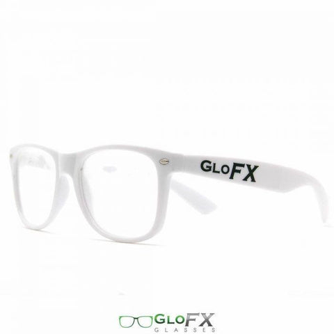 GloFX Ultimate Diffraction Glasses – White - Rave Rebel