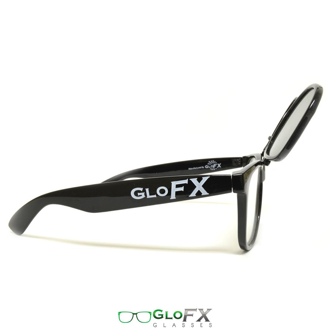 GloFX Matrix Diffraction Glasses – Black Tinted - Rave Rebel