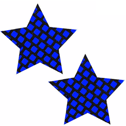Disco Ball Blue Mirror Star Pasties - Rave Rebel