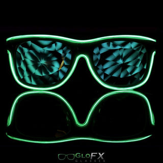 Customizable Ultimate Kaleidoscope Light Up Glasses - Rave Rebel