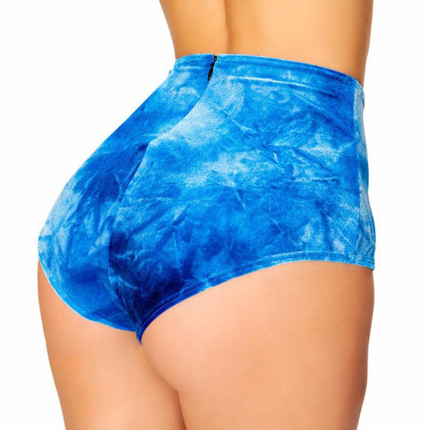 Blue Boy Tie Dye High-Waist Short