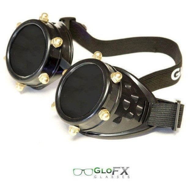Black Bolt Goggles - Rave Rebel