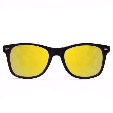 Diffraction Glasses – Red + Black – Gold Mirror - Rave Rebel