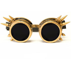 Brass Spike Goggles - Rave Rebel