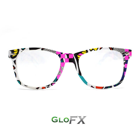 GloFX Neon Retro Diffraction Glasses