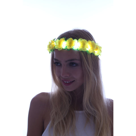 Yellow-LED Light Up Flower Crown