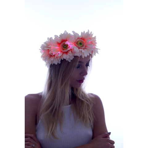 Pinky - Large Daisy LED Flower Crown