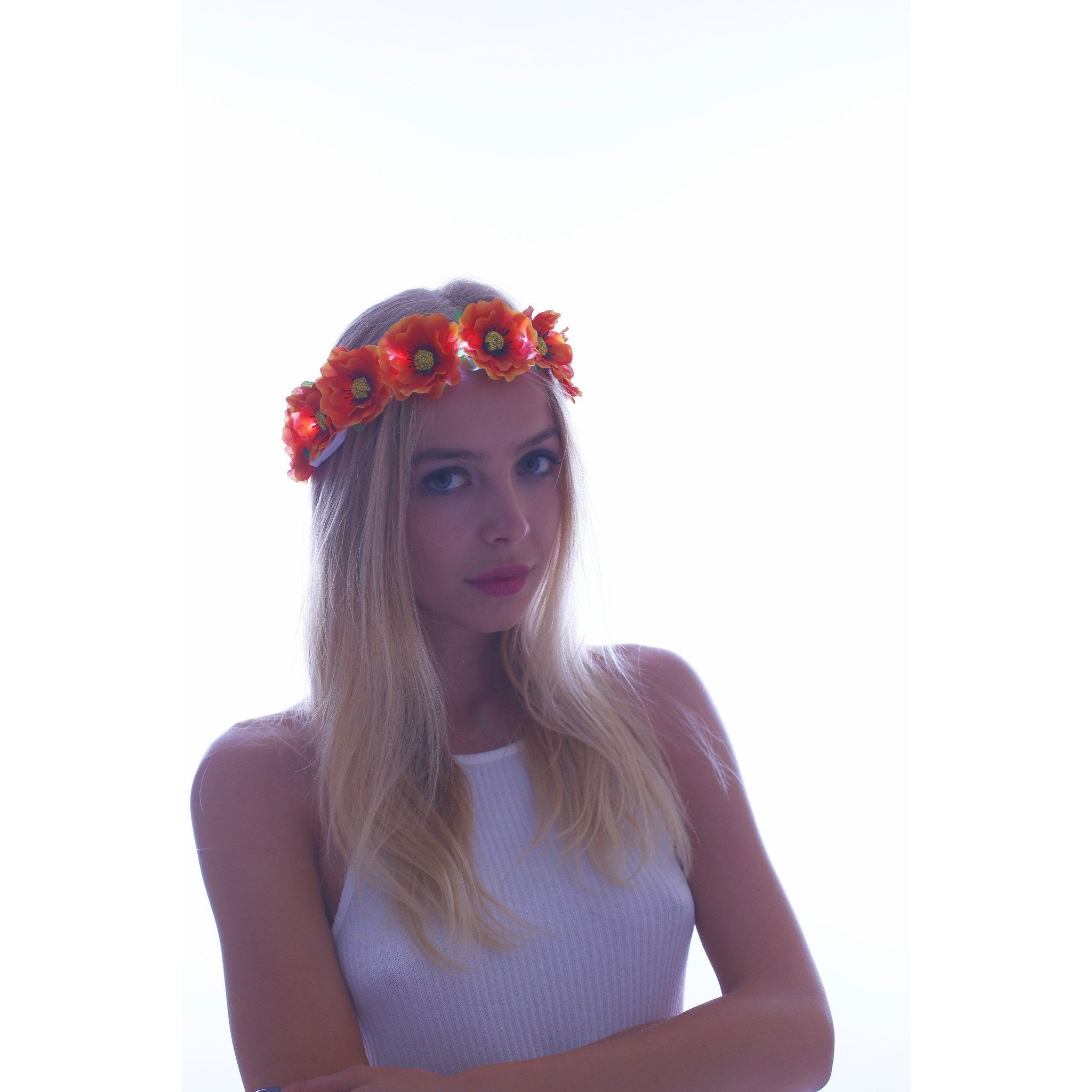 Sale orange led light up flower crown rave rebel sale orange led light up flower crown izmirmasajfo