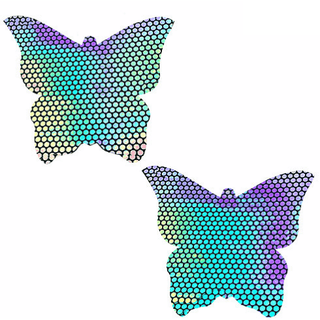 Liquid Party Hologram Butterfly Kisses Pasties - Rave Rebel