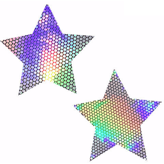 Liquid Party Hologram Starry Nights Pasties - Rave Rebel