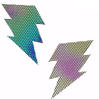 Liquid Party Hologram Storm Surge Bolt Pasties - Rave Rebel