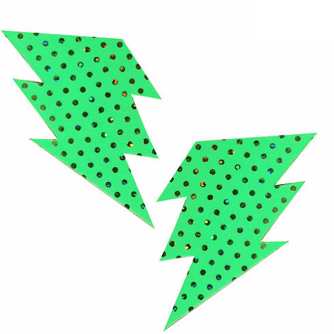 Margarita Green Bolt Pasties - Rave Rebel