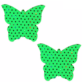 Margarita Green Butterfly Pasties - Rave Rebel