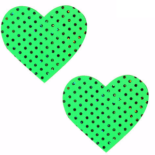 Margarita Green Heart Pasties - Rave Rebel
