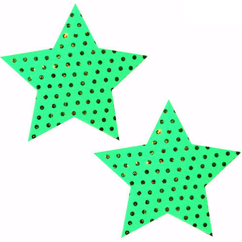 Margarita Green Star Pasties - Rave Rebel