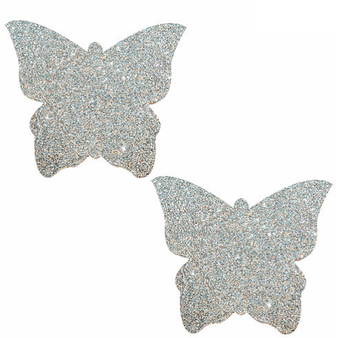 Pixie Dust Silver Glitter Butterfly Pasties