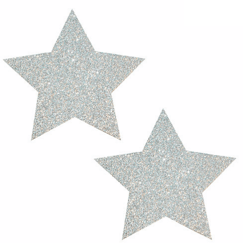 Pixie Dust Silver Glitter Star Pasties - Rave Rebel