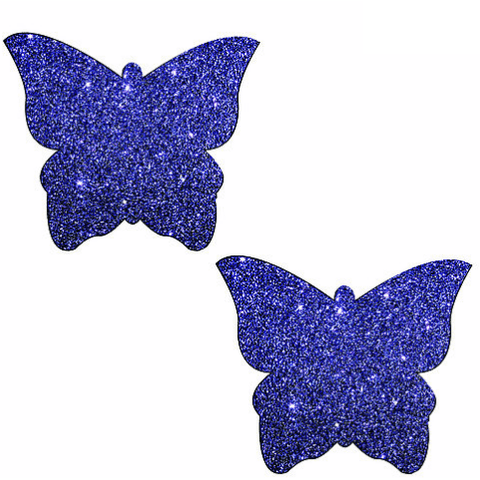Purple Rain Glitter Butterfly Pasties - Rave Rebel