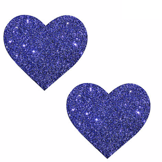 Purple Rain Glitter Heart Pasties - Rave Rebel