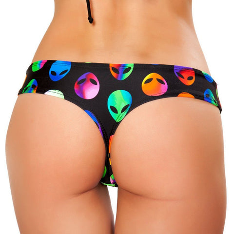 Alien Low Rise Shorts - Rave Rebel