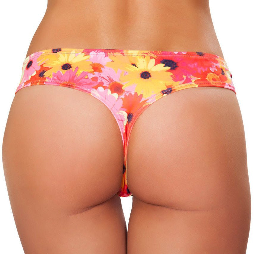 Flower Low Rise Shorts - Rave Rebel