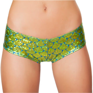 Lime Green Mermaid Shorts - Rave Rebel
