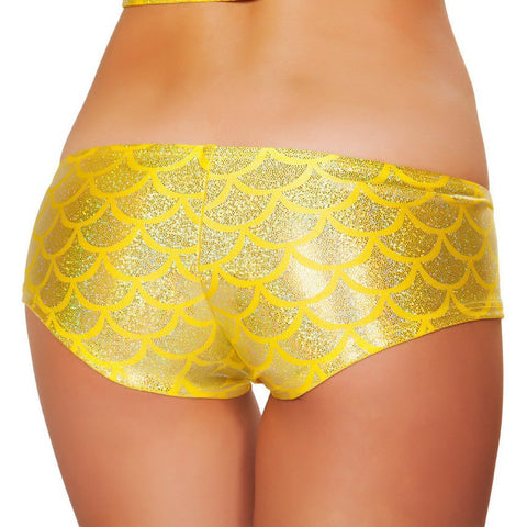 Yellow Mermaid Shorts