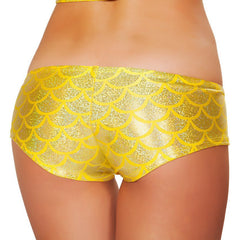 Yellow Mermaid Shorts - Rave Rebel