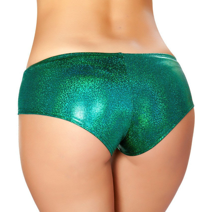 Green Shimmer Booty Shorts - Rave Rebel