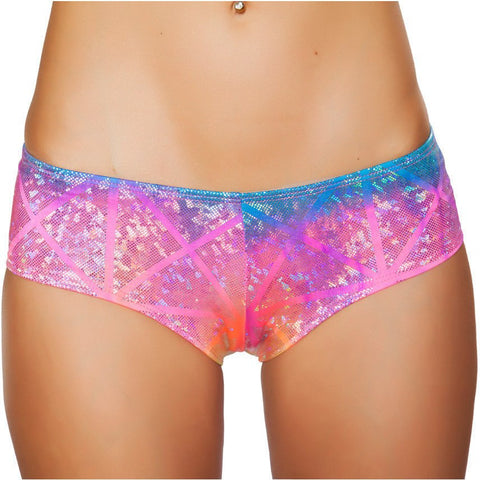 Laser Shimmer Booty Shorts - Rave Rebel
