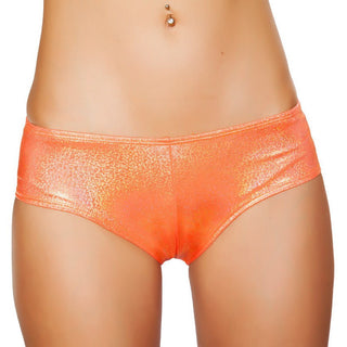 Orange Shimmer Booty Shorts - Rave Rebel